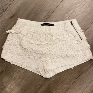 White floral patterned shorts from Zara